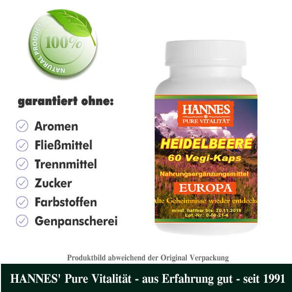 Heidelbeere Vegi-Kaps Dose