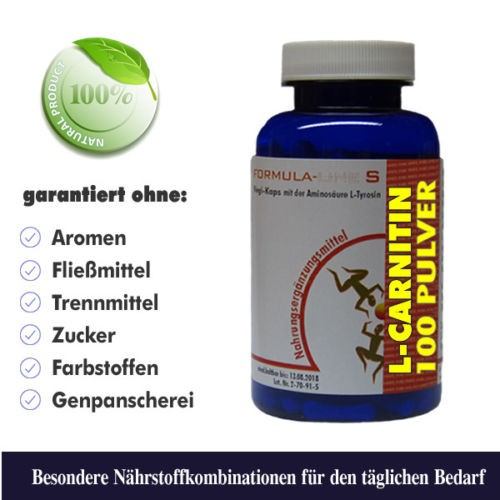 L-Carnitin Pulver Dose